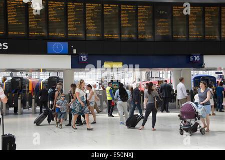 Concourse of Waterloo Station London England UK - Stock Photo