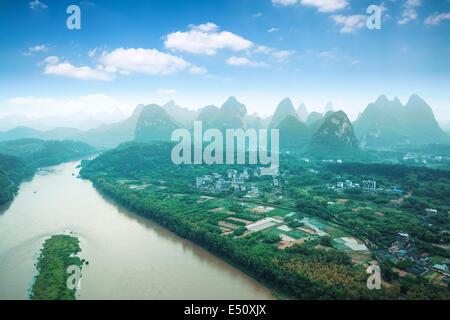 beautiful yangshuo landscape - Stock Photo