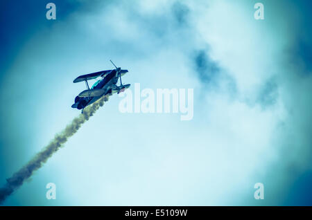 action in the sky during an airshow - Stock Photo