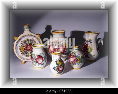 folk pottery - Stock Photo