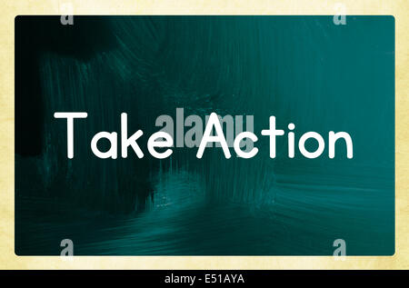 take action concept - Stock Photo