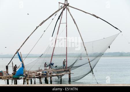 Chinese net, Fort kochi - Stock Photo