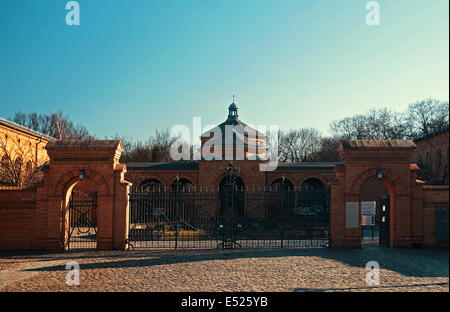 jewish cemetery in Berlin-Weissensee - Stock Photo