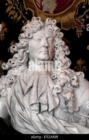King Louis XIV - Louis Quatorze 1638 – 1715 ( The Sun King ) 1686 COYSEVOX Antoine French sculptor 1640 -1720 - - Stock Photo