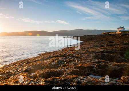 Autumn sunrise at Penmon, Anglesey Wales UK - Stock Photo