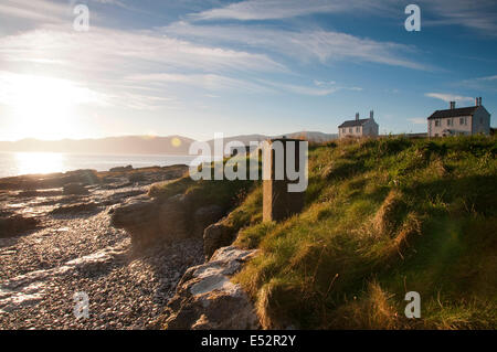 Autumn sunrise at Penmon Point, Anglesey Wales UK - Stock Photo