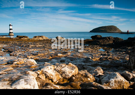 Autumn morning at Penmon Lighthouse, Anglesey Wales UK - Stock Photo