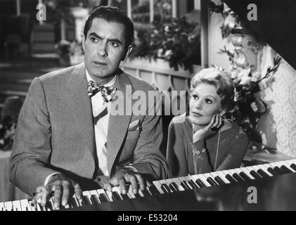 THE EDDY COCHRAN STORY 1956 Columbia Pictures film biography with Tyrone Power as Duchin and Kim Novak as Marjorie - Stock Photo