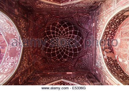Interior view of Taj Mahal - India - Uttar Pradesh - Agra - Stock Photo