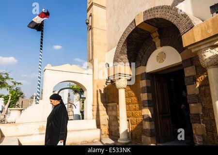 Greek Orthodox Cemetery. Coptic Cairo. - Stock Photo