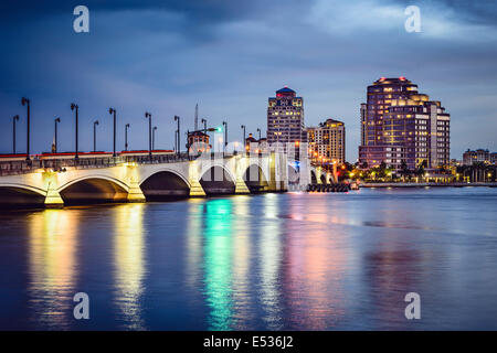 West Palm Beach, Florida, USA skyline. - Stock Photo