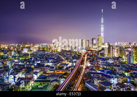 Tokyo, Japan skyline at Sumida Ward. - Stock Photo