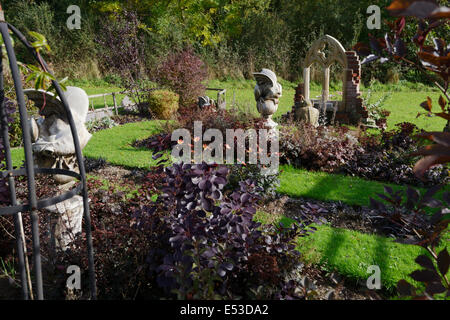 The Gothic Garden At Sculptureheaven Sculpture Garden, Rhydlewis,  Llandysul, Wales, UK.