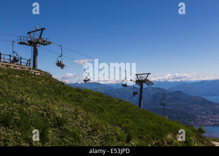 Summit Chair Lift chair lift at the summit of mottarone lake maggiore italy with