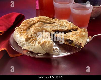 phyllo apple pie - Stock Photo