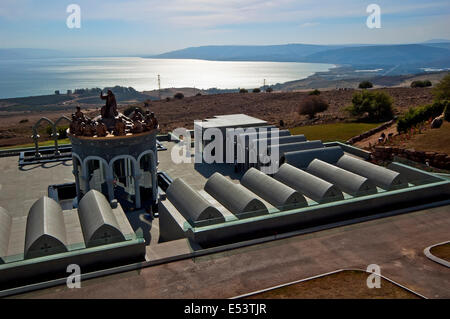 Domus Galilaeae , Sea of Galilee, Israel - Stock Photo