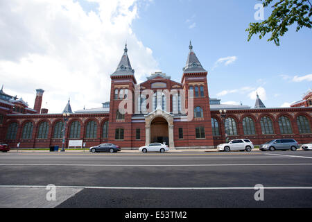 WASHINGTON D.C. - MAY 24, 2014: The Smithsonian National Museum Building was renamed the Arts and Industries Building - Stock Photo