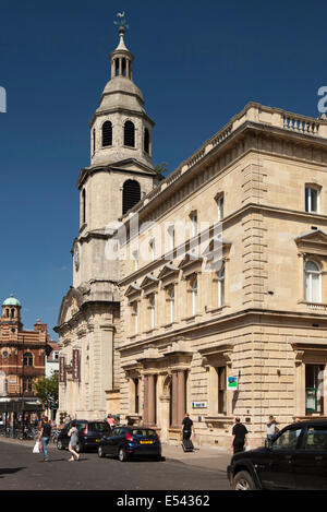 UK, England, Worcestershire, Worcester, The Cross, Slug and Lettuce pub in former St Nicholas' Church - Stock Photo