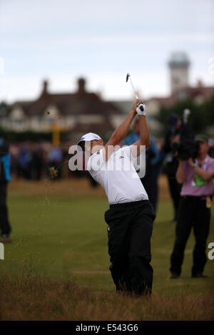 Hoylake, UK. 19th July, 2014. Sergio Garcia (USA) Golf : Sergio Garcia of Spain in action on the 16th hole during - Stock Photo