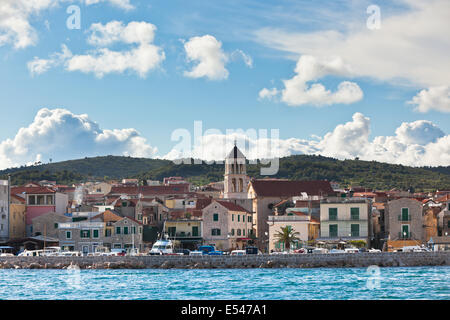Vodice is a small historic town on the Adriatic coast in Croatia - Stock Photo