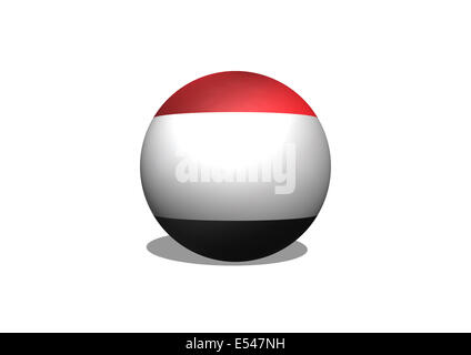 flag of Yemen themes idea design - Stock Photo