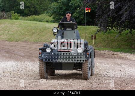 Ferret MkII Scout Car - Bovington Tankfest 2014 - Stock Photo