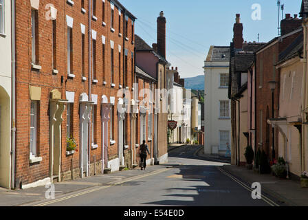 Terraced houses in Ludlow, Shropshire, England UK - Stock Photo