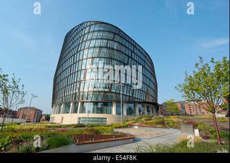 One Angel Square, of the Co-operative Group, is one of the flagship buildings which is part of the NOMA complex - Stock Photo