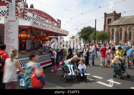 Fleetwood, Lancashire, 20th July, 2014. Classic Cafe at Fleetwood Festival of Transport. This event took place for - Stock Photo