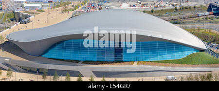 London Aquatics Centre re opened after 2012 Olympics & removal of temporary seating stands Queen Elizabeth Olympic - Stock Photo