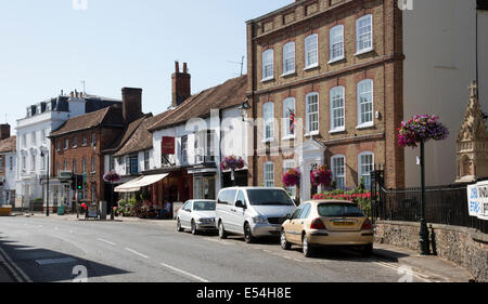 High Street properties in Henley on Thames Oxfordshire UK - Stock Photo