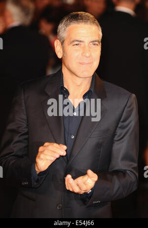 London, UK, UK. 15th Oct, 2009. George Clooney attends the Gala Screening of 'Men Who Stare At Goats' during The - Stock Photo