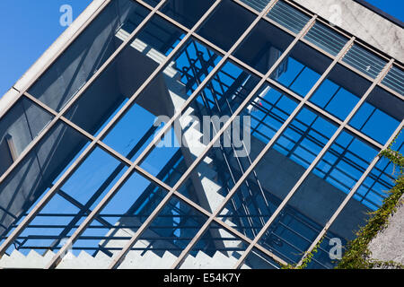 Abstract image of a parking lot stairwell at UBC, Vancouver, Canada - Stock Photo