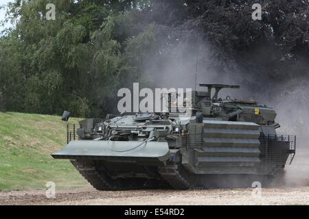 Challenger Armoured Repair and Recovery Vehicle TES(H) - Bovington - Stock Photo