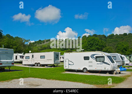 Wood Nook camping and caravan site, near Grassington, Wharfedale, Yorkshire Dales National Park, North Yorkshire, - Stock Photo