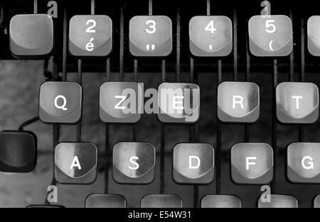details of keyboard keys of an old typewriter - Stock Photo
