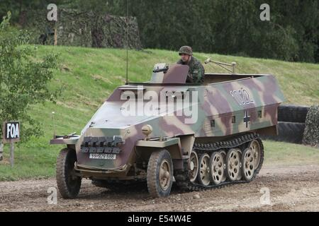 German Sd.Kfz. 250 half track - Bovington - Stock Photo