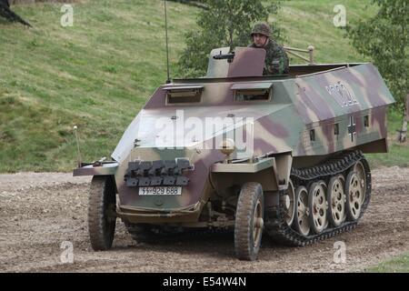German Sd.Kfz. 250 half track - Bovington Tankfest 2014 - Stock Photo