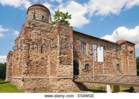 Colchester Castle in Colchester; Essex is an example of a largely complete Norman castle. - Stock Photo