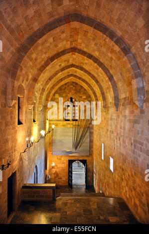 Inside the Palace of the Grand Master ('Castello'), Medieval town of Rhodes, Rhodes island, Dodecanese, Greece. - Stock Photo