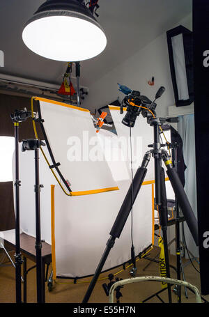 Commercial photography studio including lighting background and commercial photography studio including lighting background and grip gear stock photo aloadofball Images