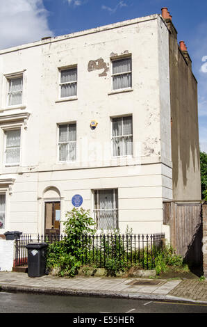 LONDON, UK  MAY 24, 2014: Historic home of the artist Vincent Van Gogh in Brixton, South London. - Stock Photo