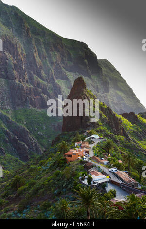 Masca, Teno Rural Park. Buenavista del Norte. Tenerife, Canary Islands, Atlantic Ocean, Spain, Europe. - Stock Photo