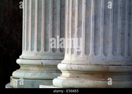 Classical marble columns - close up - Stock Photo