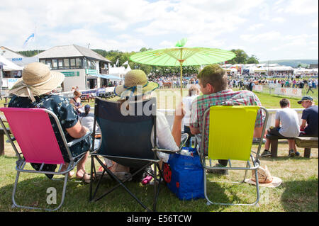 Llanelwedd, UK. 22nd July 2014. Very hot and sunny on the second day.  Record numbers of visitors in excess of 240,000 - Stock Photo