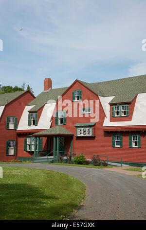 Canada, New Brunswick, Campobello Island, Roosevelt Campobello International Park. Roosevelt family summer home - Stock Photo