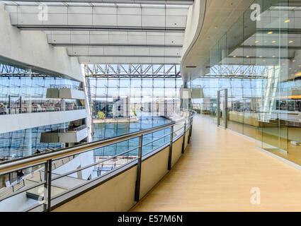 Black Diamond, extension to the Royal Danish Library, Copenhagen, Denmark - Stock Photo