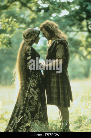 BRAVEHEART 1995 Icon Entertainment fllm with Mel Gibson and Sophie Marceau - Stock Photo