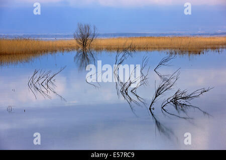 Lake Doirani, Kilkis prefecture, Macedonia, Greece - Stock Photo