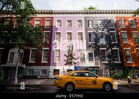 New York, NY 15 July 2014 - MacDougal Street in Greenwich VIllage ©Stacy Walsh Rosenstock/Alamy - Stock Photo